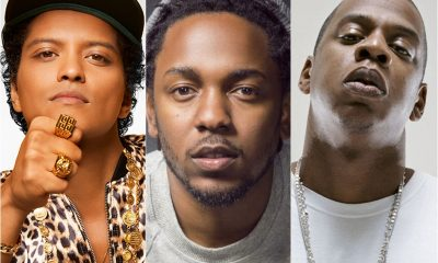Bruno Mars, Kendrick Lamar e Jay-Z (Foto: Reprodução)